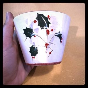 Other - Christmas holly pot, used, Italy